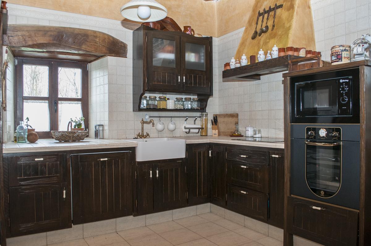 Cocina Completa Madera R Stica Vintage Muebles R Sticos Bierzo  # Muebles De Cocina De Madera